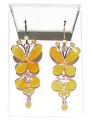 Mademoiselle Butterscotch Baltic Amber 925 Silver Earrings