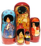 Kiss by Gustav Klimt 5 Piece Nesting Doll
