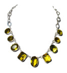 Huge Citrine Necklace In 925 Sterling Silver Main View