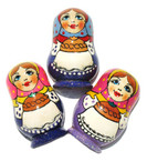 "Refrigerator Magnet ""Russian Babushka"" In Purple"