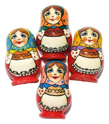 """Refrigerator Magnet """"Russian Babushka"""" In Red"""