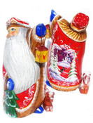 Best Friend Hand Carved Wooden Santa
