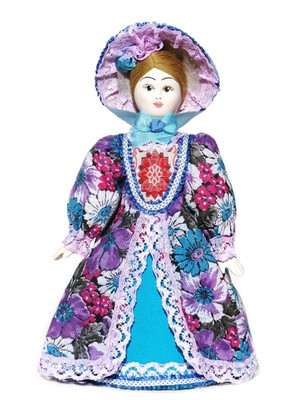 "Russian Porcelain Costume Doll ""Duchess"" Front View"