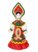 "Russian Porcelain Costume Doll ""Rainbow"" Front View"