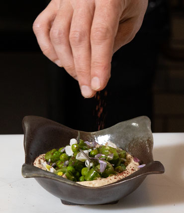 Tomer Blechman Chef/Owner of Miss Ada in Fort Greene, Brooklyn Mediterranean cuisine meets Japanese earthenware