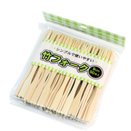 "3 1/2"" Bamboo Fork Skewers (1000/box)"