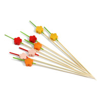 "15% Off with code MTCBARWARE15 - Decorative Picks for Appetizers and Cocktails Ume Plum Flower 4.72"" (100/pack)"