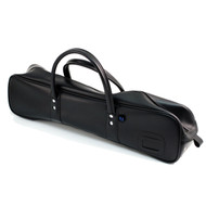 Synthetic Black Leather Knife Bag