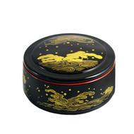 """Wave Motif Chirashi Sushi Box 6 1/4"""" dia"""