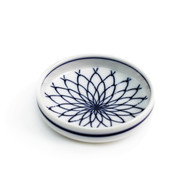 "Woven Flower Soy Sauce Dish 3 1/8"" dia"