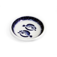 "Double Sole Fish Soy Sauce Dish 3 3/4"" dia"