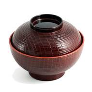 "Ransuji Soup Bowl with Lid 4 3/8"" dia"