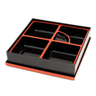 "Square Black Bento Box 9.96"" x 9.96"""