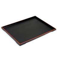 Black Tray with Red Trim