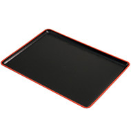 Resin Black Tray with Red Trim