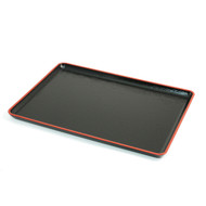 Non-slip Black Tray with Red Trim