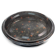 "P-14 Round Momiji Leaf Take Out Platter 12.2"" dia (25/pack)"