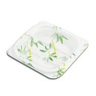 "SP-02 Small Bamboo Leaf Take Out Tray 4 3/4"" x 4 3/8"" (50/pack)"