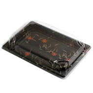 "A-07 Momiji Leaf Take Out Sushi Tray 9"" x 6 1/8"" (50/pack)"