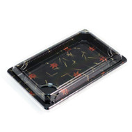 "A-03 Momiji Leaf Take Out Sushi Tray 8 1/2"" x 5 1/8"" (50/pack)"