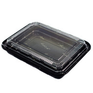 "TZ-830K Kamome Bird Take Out Sushi Tray 10 1/2"" x 8"" (50/pack)"