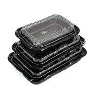 "CZ-9 Take Out Sushi Tray 9 1/4"" x 6 1/4"" (50/pack)"