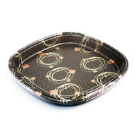 "SF-5 Rounded Square Take Out Platter 14"" (10/pack)"
