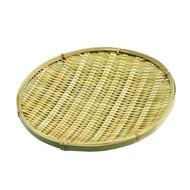 """Round Bamboo Tempura Plate 8 7/8"""" dia"""