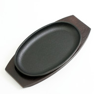 "Oval Cast Iron Sizzling Plate 9.5"" x 5.75"""