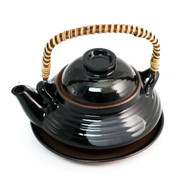 Black Dobin Mushi Pot
