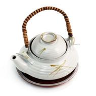 White Dobin Mushi Pot