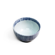 "Bowl with Blue Stripe Border 3.75"" dia"