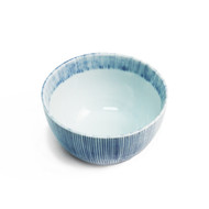"Bowl with Blue Stripe Border 4 3/8"" dia"