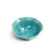 "Cracked Turquoise Blue Bowl 4.72"" dia"