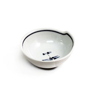 "Tonsui Bowl with Dragonfly 4 3/4"" dia"
