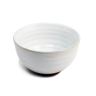 "Ridged White Noodle Bowl 6 1/8"" dia"