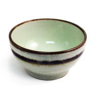 "Noodle Bowl with Brown Trim 6 1/2"" dia"