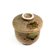 Brown and Moss Green Chawan Mushi Cup 6 fl oz