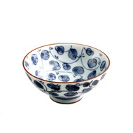 "Flower Vine Rice Bowl 4.5"" dia"