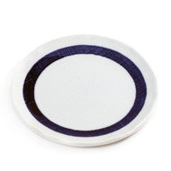 "Plate with Thick Blue Ring 6 1/2"" dia"
