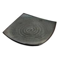 "Square Pearl Black Plate 8 7/8"" x 8 7/8"""