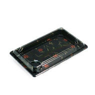 "A-02 Momiji Leaf Take Out Sushi Tray 7 1/4"" x 4 7/8"" (50/pack)"