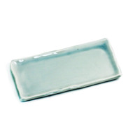 "Wavy Light Sage Rectangular Plate 8 5/8"" x 4 3/8"""