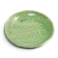 "Cracked Jade Green Plate 7 7/8"" dia"