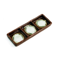 """3 Compartment Brown Plate 6.5"""" x 2.35"""""""