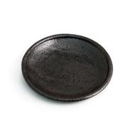 "Matte Black Round Plate 6.1"" dia"