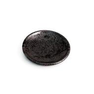 "Matte Black Round Plate 4.33"" dia"
