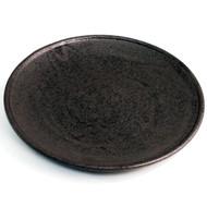 "Matte Black Round Plate 9 7/8"" dia"
