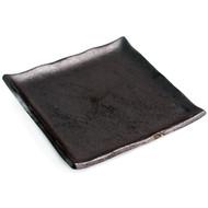 """Matte Black Square Plate 8 7/8"""" x 8 7/8"""""""