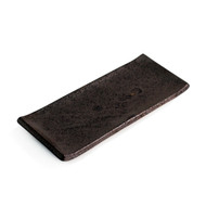 "Matte Black Rectangular Plate 8 7/8"" x 3 3/4"""